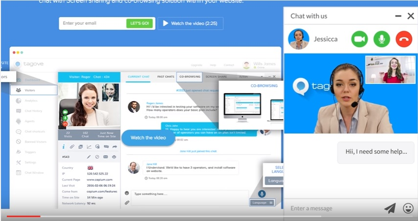 Acquire live chat